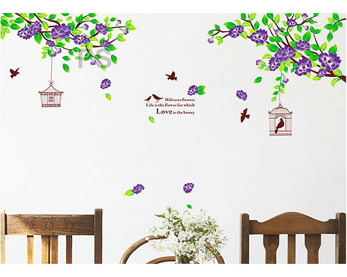 Hibiscus Purple Flowers