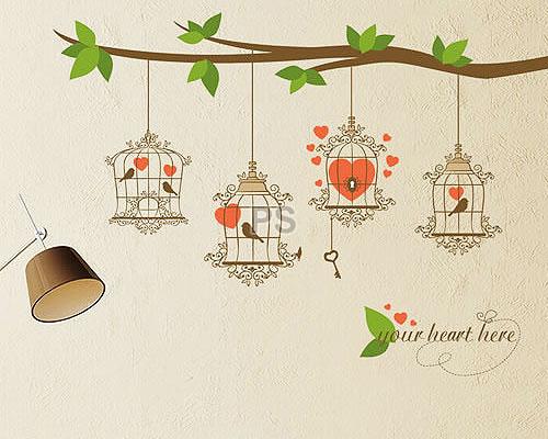 Bird Heart Cage