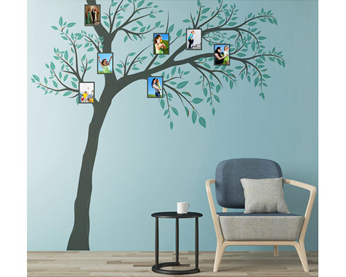 Wall Sticker 4 Pcs Tree Frame - JM7337