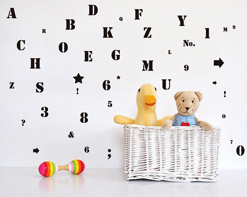 WallSticker ABC Numbers  - JM8386