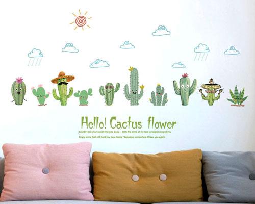 Wall Sticker Hello Cactus - SK7160