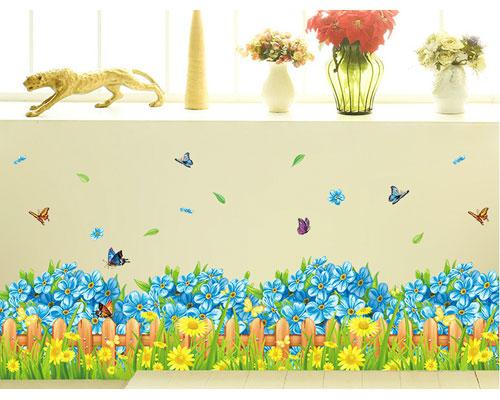 Wall Sticker Blue Gate Flower - XL7185