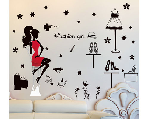 Wall Sticker Fashion Girl - XL7212