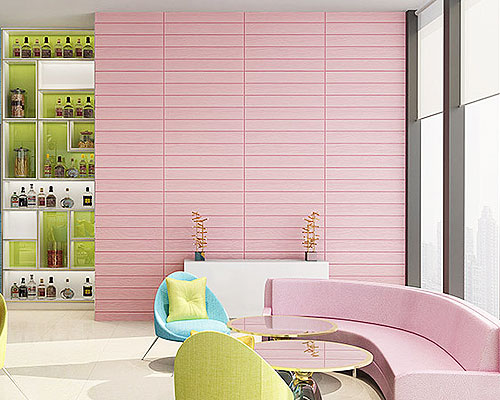 Wall 3D Wood - BW8321 - Pink