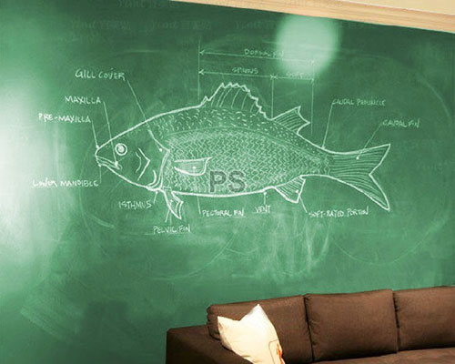 Wall Paper Sticker 2M - Chalkboard Green